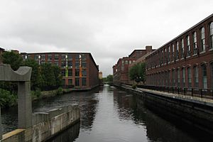 Pawtucket Canal at Central St looking west, Lowell MA