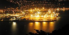 Port of Wellington at night