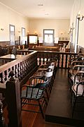 Courtroom, old Pinal courthouse