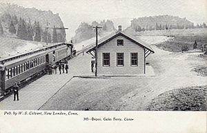 Gales Ferry station postcard