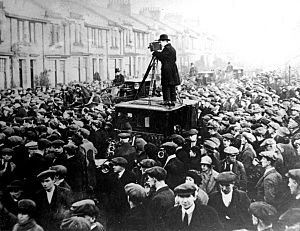 John Maclean's casket being removed from his Pollokshaws home
