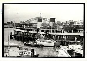 Sydney Ferry SOUTH STEYNE at Balmain after fire 26 August 1974