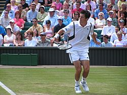 Tim Henman backhand volley Wimbledon 2004