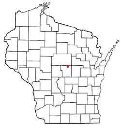 Location of Sharon, Portage County, Wisconsin