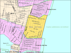 Census Bureau map of Bradley Beach, New Jersey
