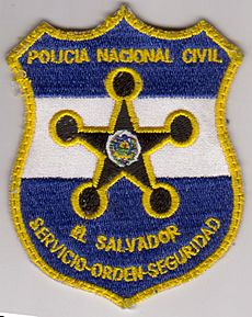El salvador police patch