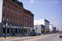 Downtown Fremont, Ohio on South Front Street.