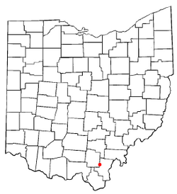 Location of Centerville, Gallia County, Ohio