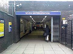 Seven Sisters ground level entrance.JPG