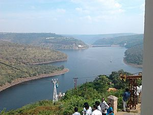 Srisailam Dam and River Krishna