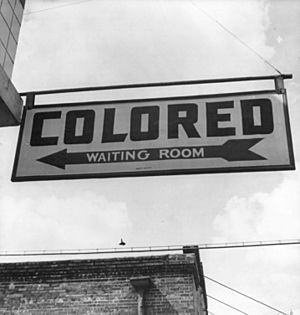 1943 Colored Waiting Room Sign