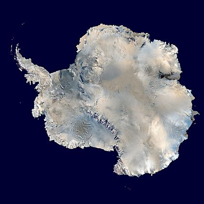 Antarctica 6400px from Blue Marble