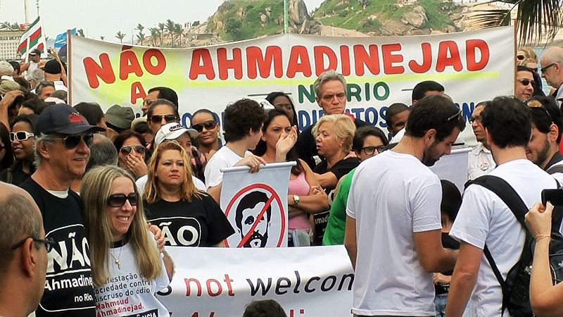 Demonstration against Ahmadinejad in Rio
