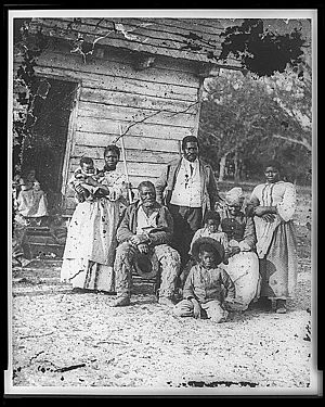 Family of African American slaves on Smith's Plantation Beaufort South Carolina