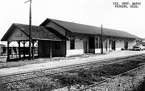 Illinois Central Depot, Wiggins, Miss.