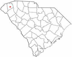 Location of Pickens, South Carolina