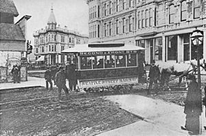 Seattle - Occidental and Yesler - 1884