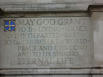 Westminster Abbey wall inscription