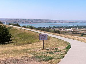 Chamberlain, South Dakota and the Missouri River