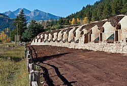 Coke ovens being restored, Redstone, CO