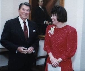 Faith Whittlesey and Ronald Reagan