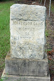 Jefferson Davis Highway marker, Irwin County, GA, US