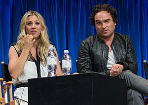 Kaley Cuoco and Johnny Galecki at PaleyFest 2013