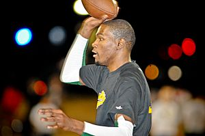 Kevin Durant playing American football