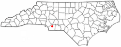 Location of Unionville, North Carolina