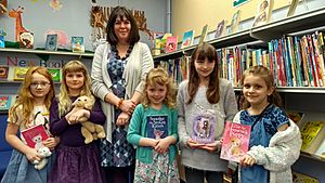 Holly Webb at Pangbourne Library.