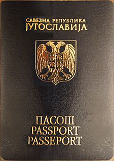 Passport of the Federal Republic of Yugoslavia