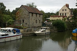 The lock keeper at Keynsham