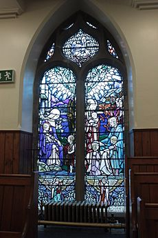 The memorial window to Joan Carfrae Pinkerton, Duddingston Kirk
