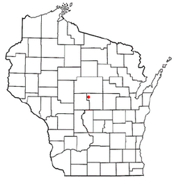 Location of Junction City, Wisconsin