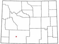 Location of Rock Springs, Wyoming