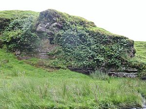 Dunton Cove, Scottish Covenanters 17th century artificial cave, Craufurdland Water, Ayrshire