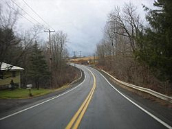 Former NYS Route 319 in Preston