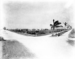 Intersection of Palm Avenue and County Road in 1921