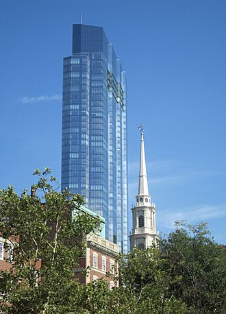 Millennium Tower and steeple of Park Street Church from Beacon Hill.jpg