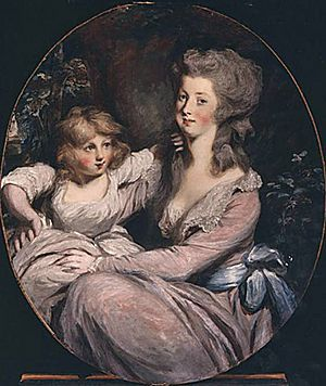 Peggy Shippen and daughter