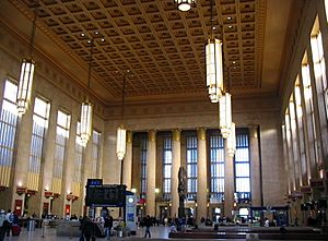 Philly 30th St. Station interior