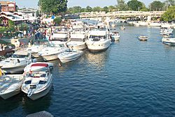 The North Tonawanda side of the Gateway Harbor