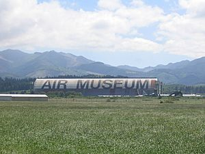 Tillamook Air Museum from distance