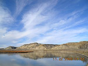Upper Cow Island Landing, above the mouth of Cow Creek, in the Missouri Breaks, Montana