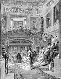 Buckingham Palace Grand Staircase The Graphic 1870