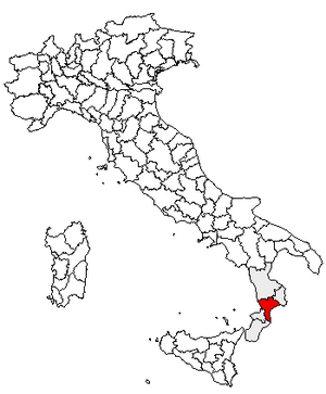 Location of Province of Catanzaro