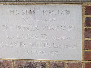 East Sheen Baptist Church foundation stone