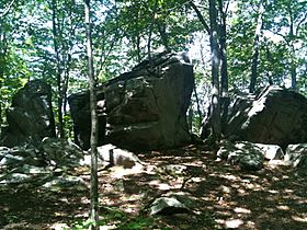 Gay City Connecticut State Park Split Rock Formation.JPG