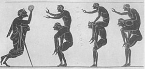 Handball pick-a-back Ancient Greece