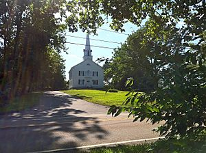 Narragansett Trail - First Baptist Church on Pendleton Hill (opposite Groton Sportsman Club preserve)